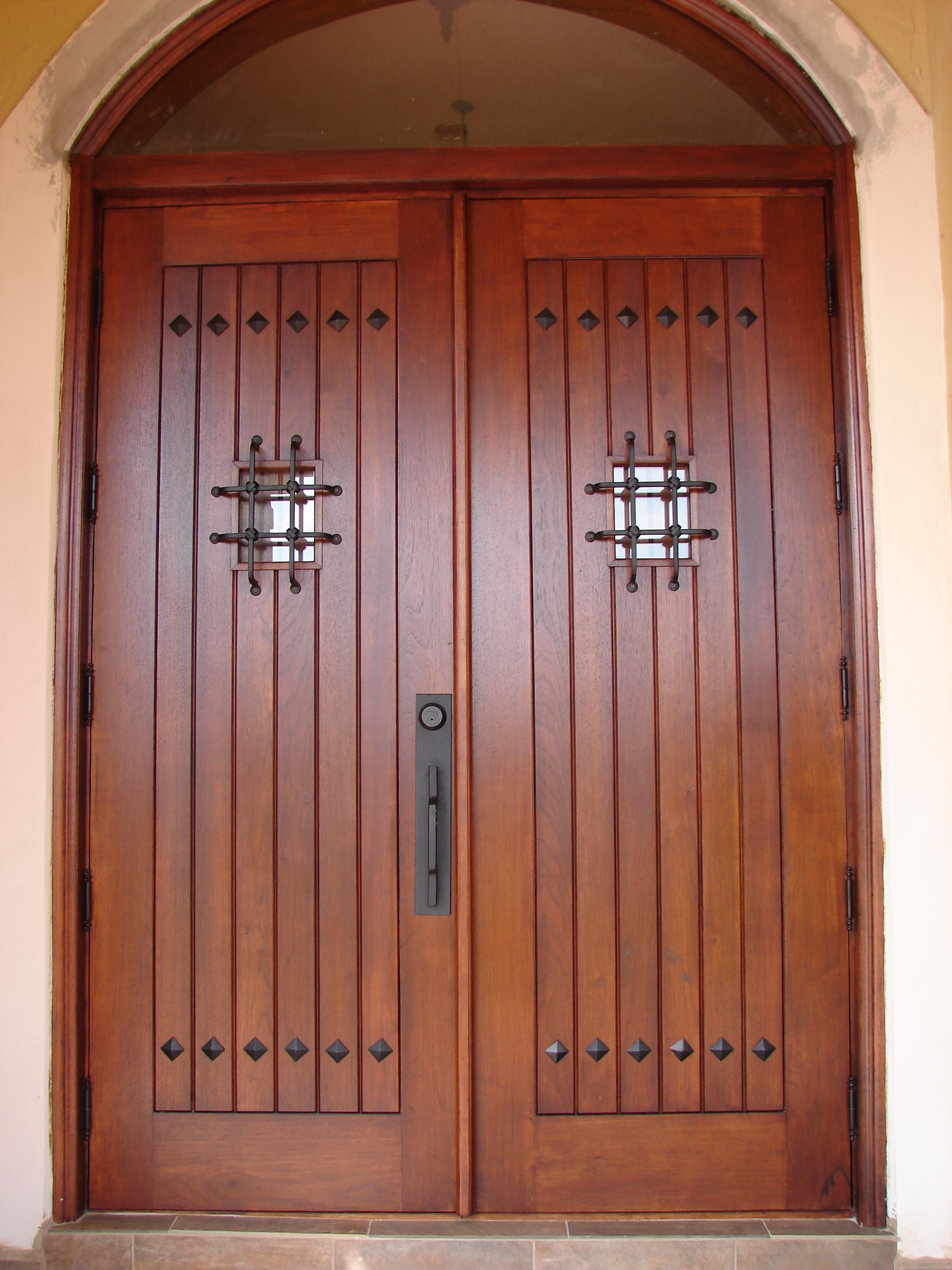 Impact precious wood mahogany wood front entry doors miami for Front double door designs indian houses